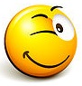 32120-Clipart-Illustration-Of-An-Expressive-Yellow-Smiley-Face-Emoticon-Flirting-And-Winking